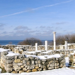 Jigsaw puzzle: Chersonesos under the snow