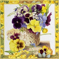 Jigsaw puzzle: Pansies