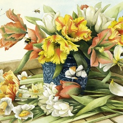 Jigsaw puzzle: Spring bouquet