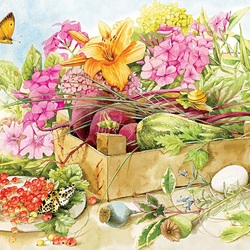 Jigsaw puzzle: Summer flowers
