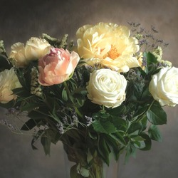 Jigsaw puzzle: Delicate bouquet of roses