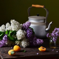 Jigsaw puzzle: Lilac and apricots