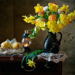 Jigsaw puzzle: Still life in yellow tones