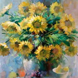 Jigsaw puzzle: Sunflowers