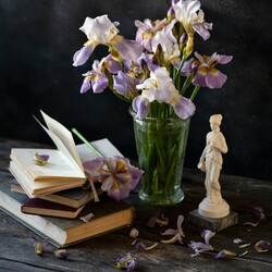 Jigsaw puzzle: Bouquet of irises