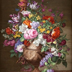 Jigsaw puzzle: Bouquet of flowers in a vase