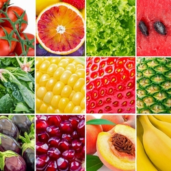 Jigsaw puzzle: Fruit and vegetable collage