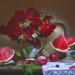 Jigsaw puzzle: Still life with watermelon
