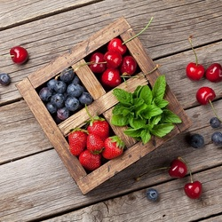 Jigsaw puzzle: Berries and mint
