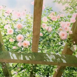 Jigsaw puzzle: Arch with roses