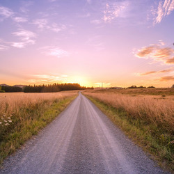 Jigsaw puzzle: Road sunset