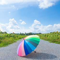 Jigsaw puzzle: Lonely summer umbrella