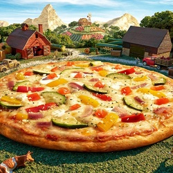 Jigsaw puzzle: Vegetable pizza
