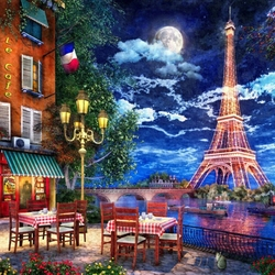 Jigsaw puzzle: Parisian cafe