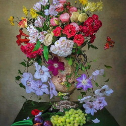 Jigsaw puzzle: Bouquet of flowers
