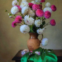 Jigsaw puzzle: White-pink bouquet