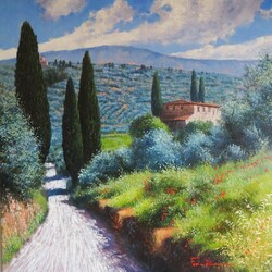 Jigsaw puzzle: Tuscan landscape