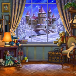 Jigsaw puzzle: Fairy tale outside the window