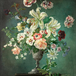 Jigsaw puzzle: Bouquet in a tall vase