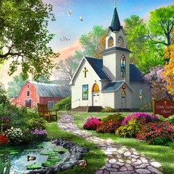 Jigsaw puzzle: White church