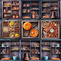 Jigsaw puzzle: Shelves and drawers