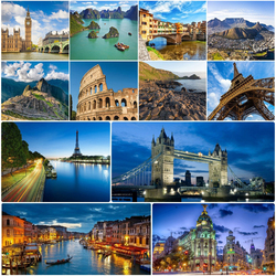 Jigsaw puzzle: Cities of the world