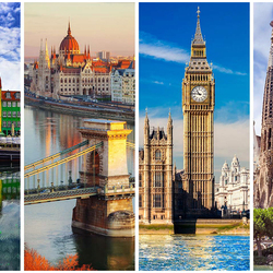Jigsaw puzzle: European cities