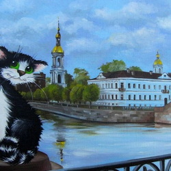 Jigsaw puzzle: Petersburg cats
