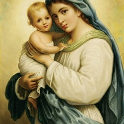 Jigsaw puzzle: Virgin with baby