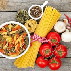 Jigsaw puzzle: Pasta with vegetables