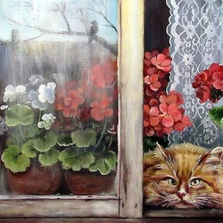 Jigsaw puzzle: Cat in the window
