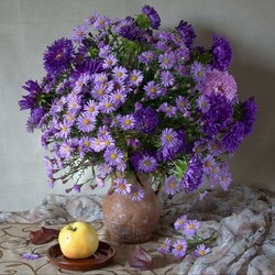 Jigsaw puzzle:  Asters