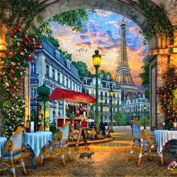 Jigsaw puzzle: Summer sunset in Paris