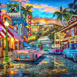 Jigsaw puzzle: Hollywood fifties