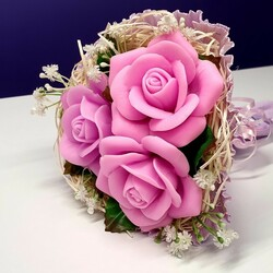 Jigsaw puzzle: Bouquet of flowers from soap