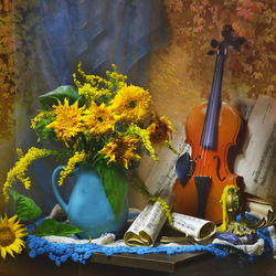 Jigsaw puzzle: Autumn violin
