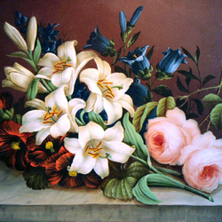Jigsaw puzzle: Bouquet of white lilies