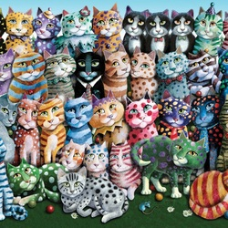Jigsaw puzzle: Cats, just cats
