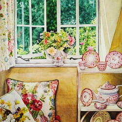 Jigsaw puzzle: Corner by the window