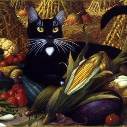 Jigsaw puzzle: Monty guards the harvest