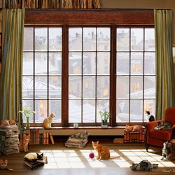 Jigsaw puzzle: And outside the window is winter