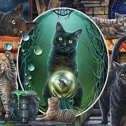 Jigsaw puzzle: Magical cats