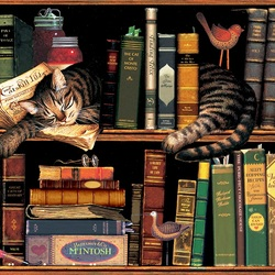 Jigsaw puzzle: Max in the library