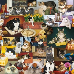 Jigsaw puzzle: Cats ... just cats