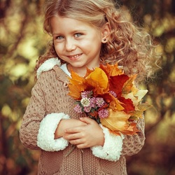 Jigsaw puzzle: Cutie in autumn