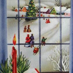 Jigsaw puzzle: Winter outside the window