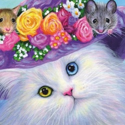 Jigsaw puzzle: Cat and mouse