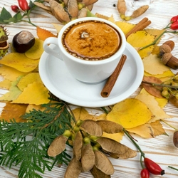 Jigsaw puzzle: Coffee and autumn leaves