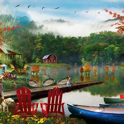 Jigsaw puzzle: Quiet lake