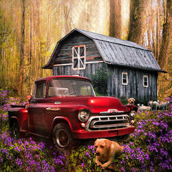Jigsaw puzzle: Old truck